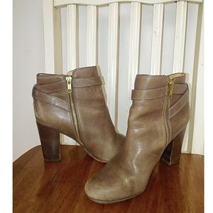 Coach Tulah Leather Buckle Bootie (8.5B)